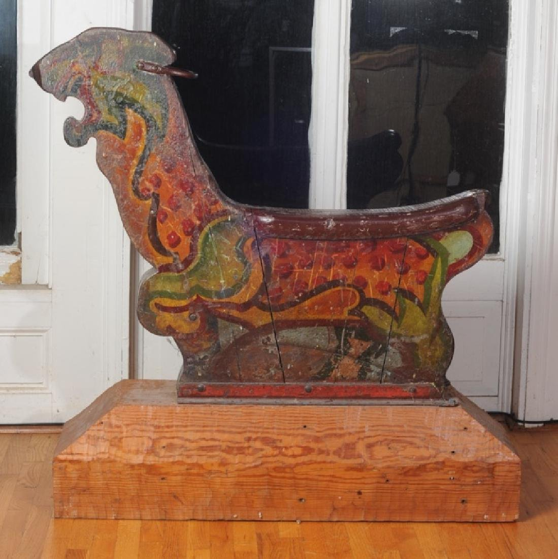 Antique Wooden Carousel Tiger