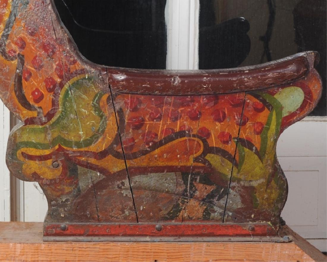 Antique Wooden Carousel Tiger - 2