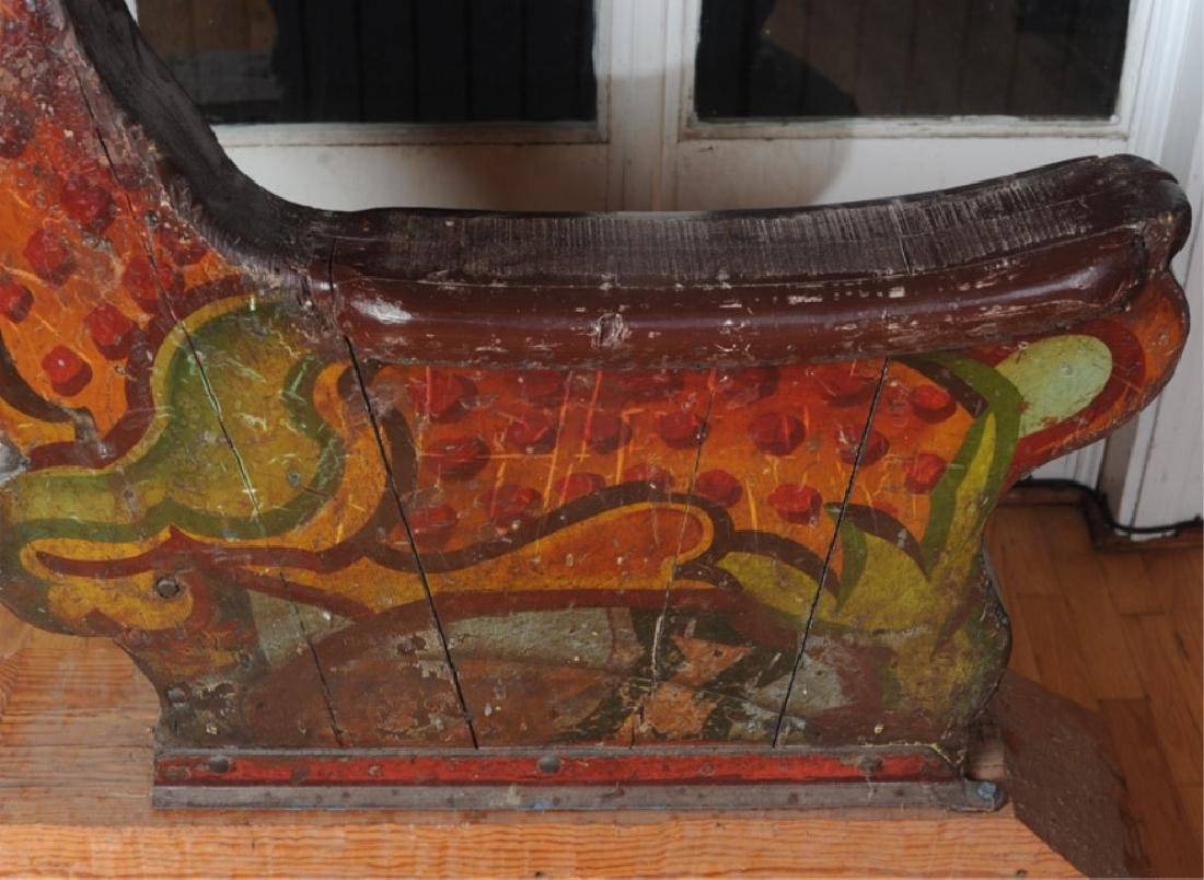 Antique Wooden Carousel Tiger - 4
