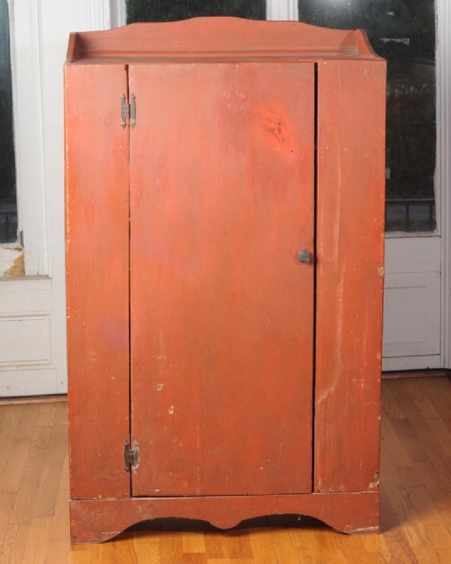 Pine Painted Single Door Jelly Cupboard