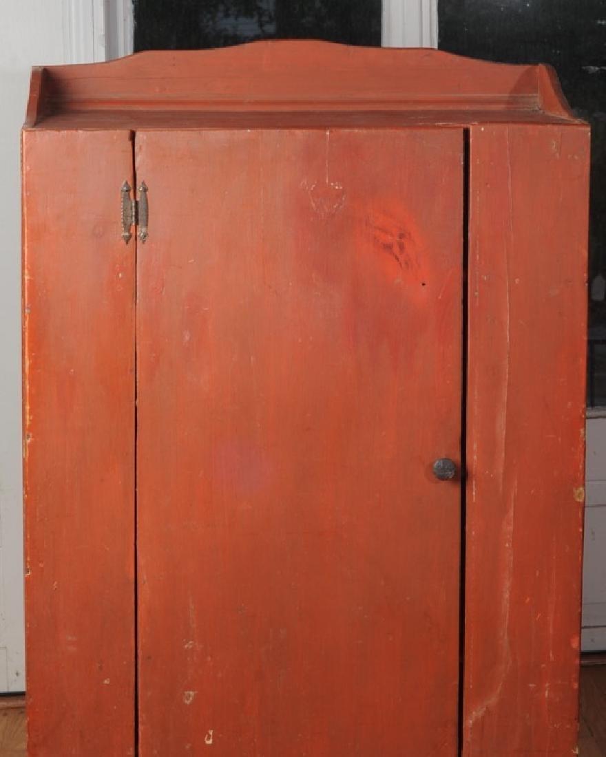 Pine Painted Single Door Jelly Cupboard - 2
