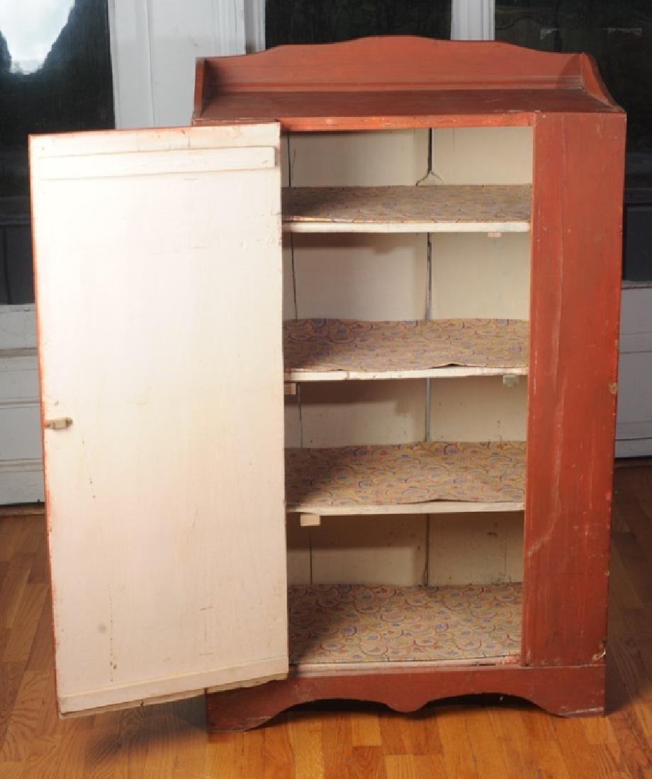 Pine Painted Single Door Jelly Cupboard - 4
