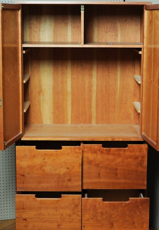 William Brouwer Mid Century Cherry Cabinet - 4
