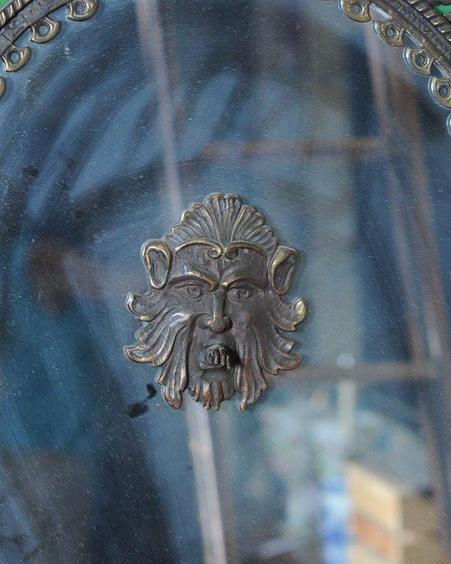 Gothic Revival Indoor Copper Fountain & Mirror - 2