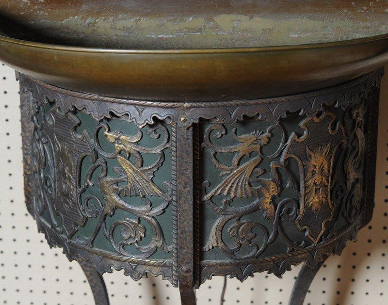 Gothic Revival Indoor Copper Fountain & Mirror - 4