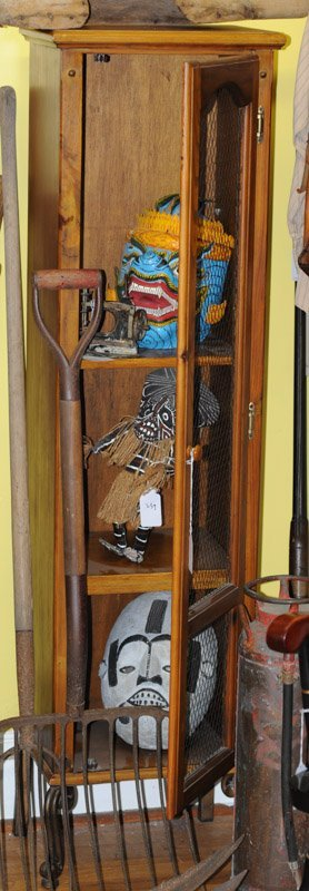 Contemporary Country Style Open Front Cupboard