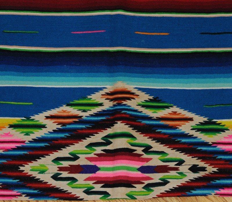 2 Vintage Mexican Saltillo Wool Serapes - 3