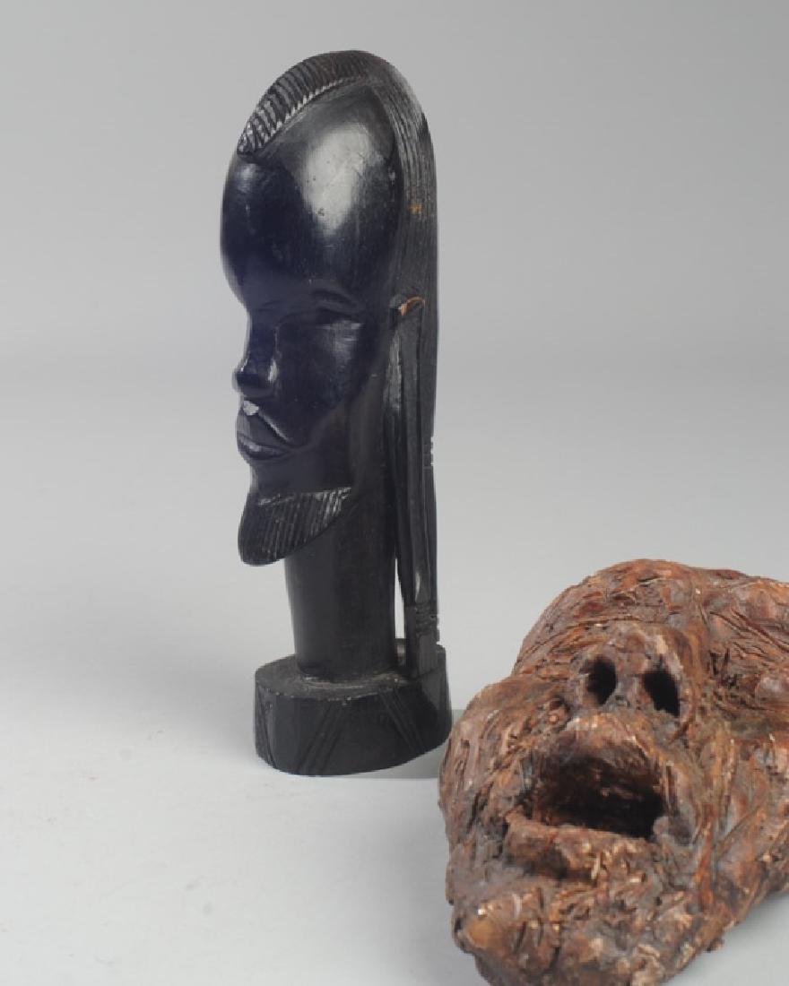 African Ebony and 20th C. Ceramic Sculptures - 2