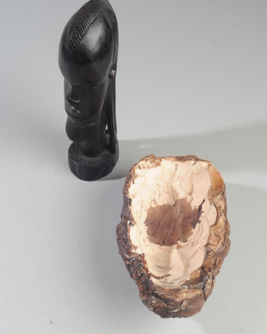 African Ebony and 20th C. Ceramic Sculptures - 3