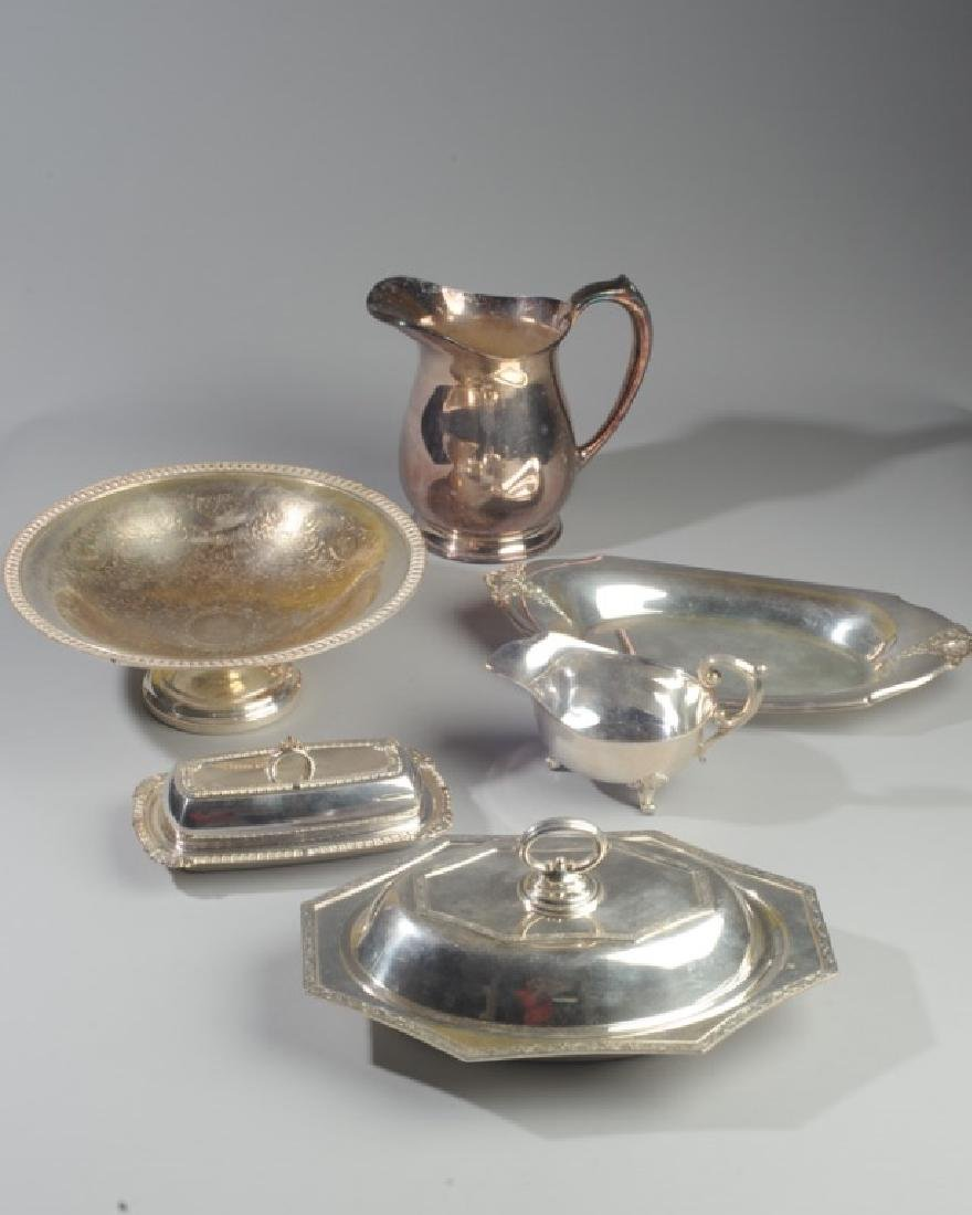 Lot of Silverplate Serving Pieces