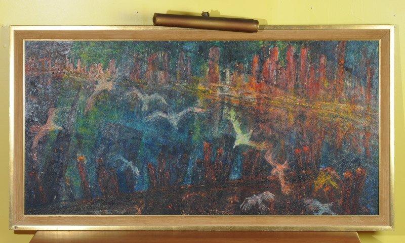 Leslie Fliegel (1912 - 1968) Oil on Panel