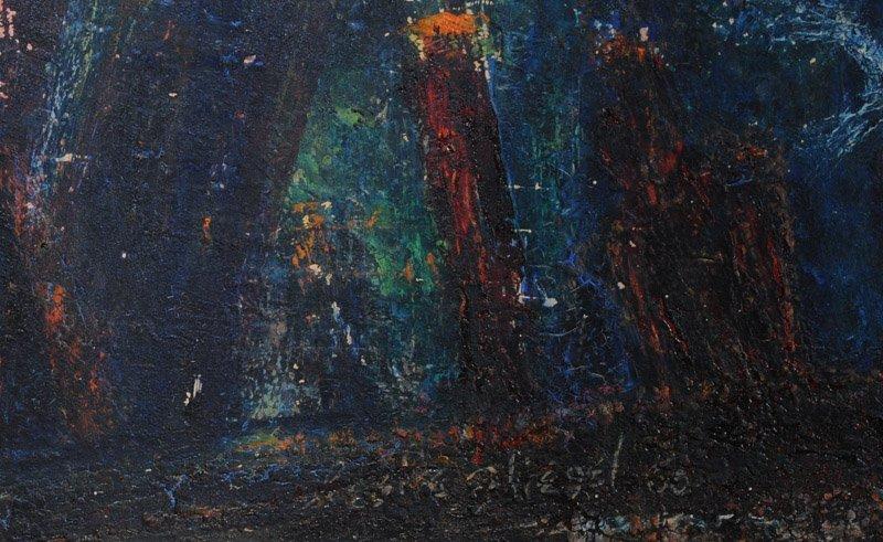 Leslie Fliegel (1912 - 1968) Oil on Panel - 2
