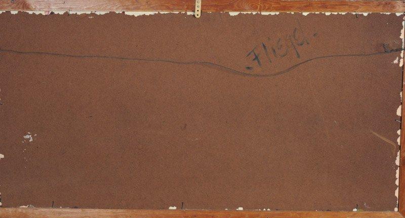 Leslie Fliegel (1912 - 1968) Oil on Panel - 4