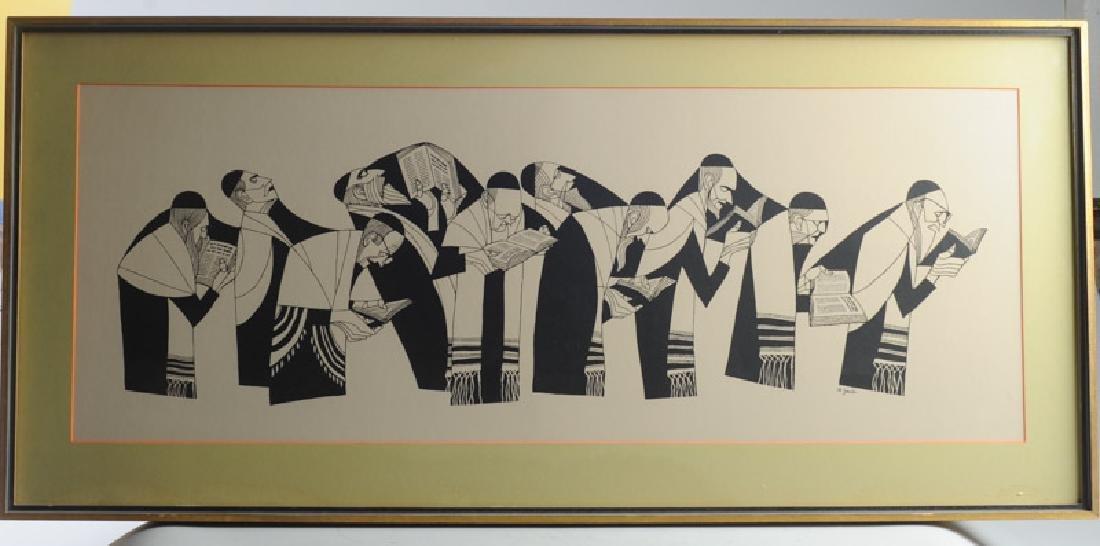 Judaica Original Print by Al Jacobs