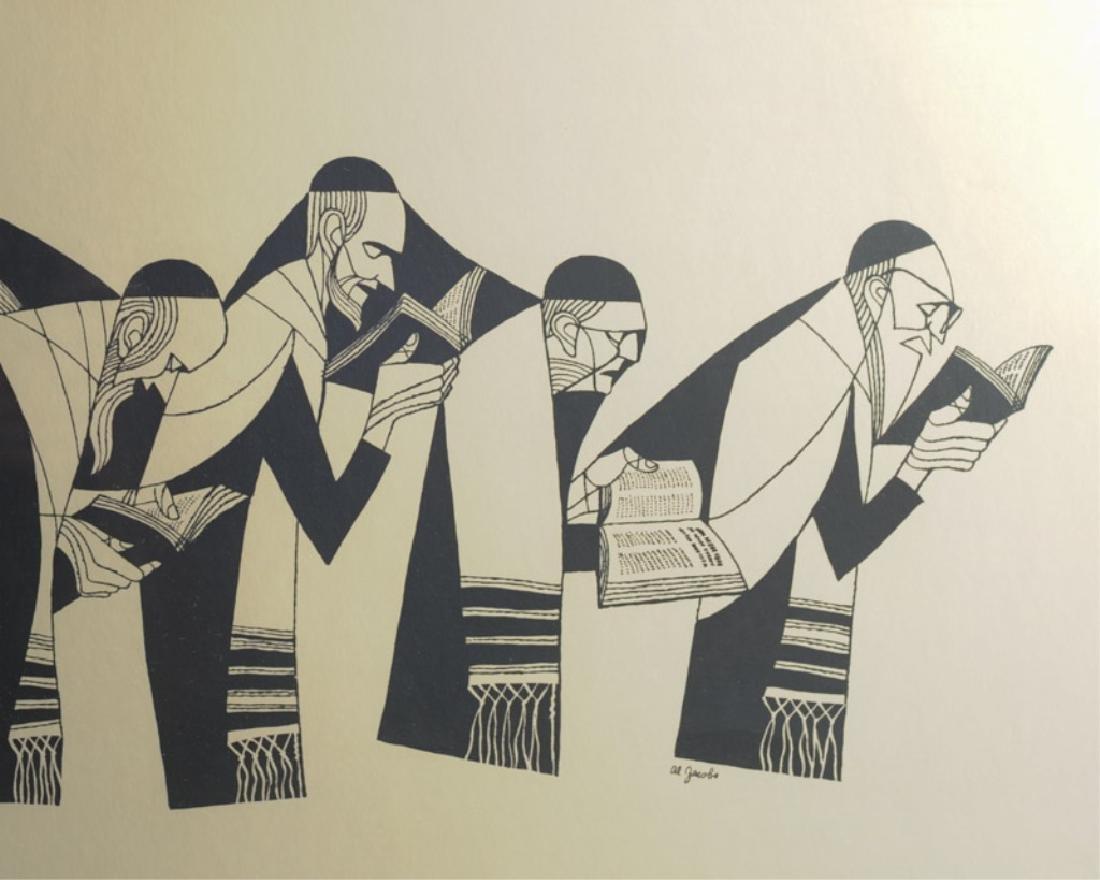 Judaica Original Print by Al Jacobs - 3