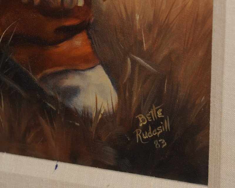 Two Native American Theme Oils on Canvas - 5