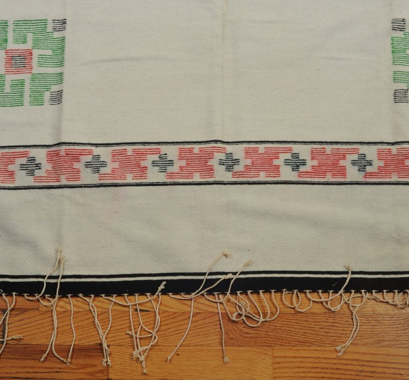 Early 20th C. Chimayo Weaving White Ground - 3