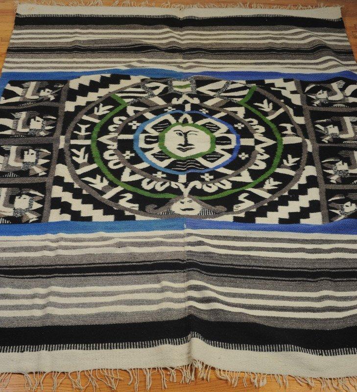 Early 20th C Mexican Wool Serape