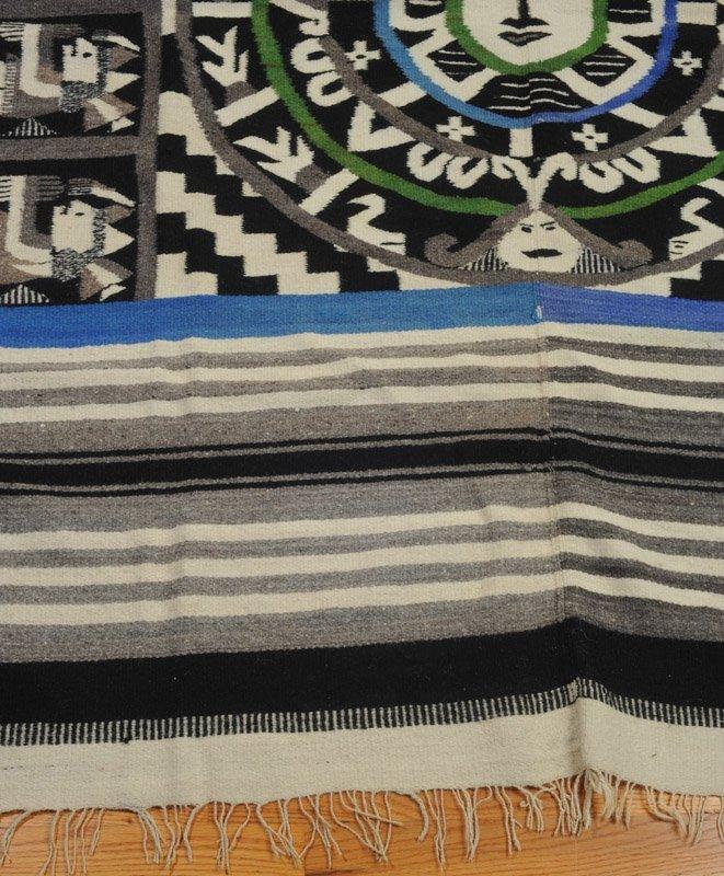 Early 20th C Mexican Wool Serape - 3
