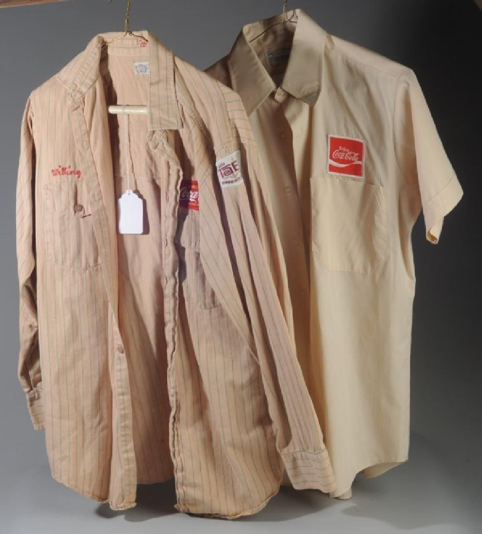 Two Vintage Coca Cola Delivery Man's Shirts