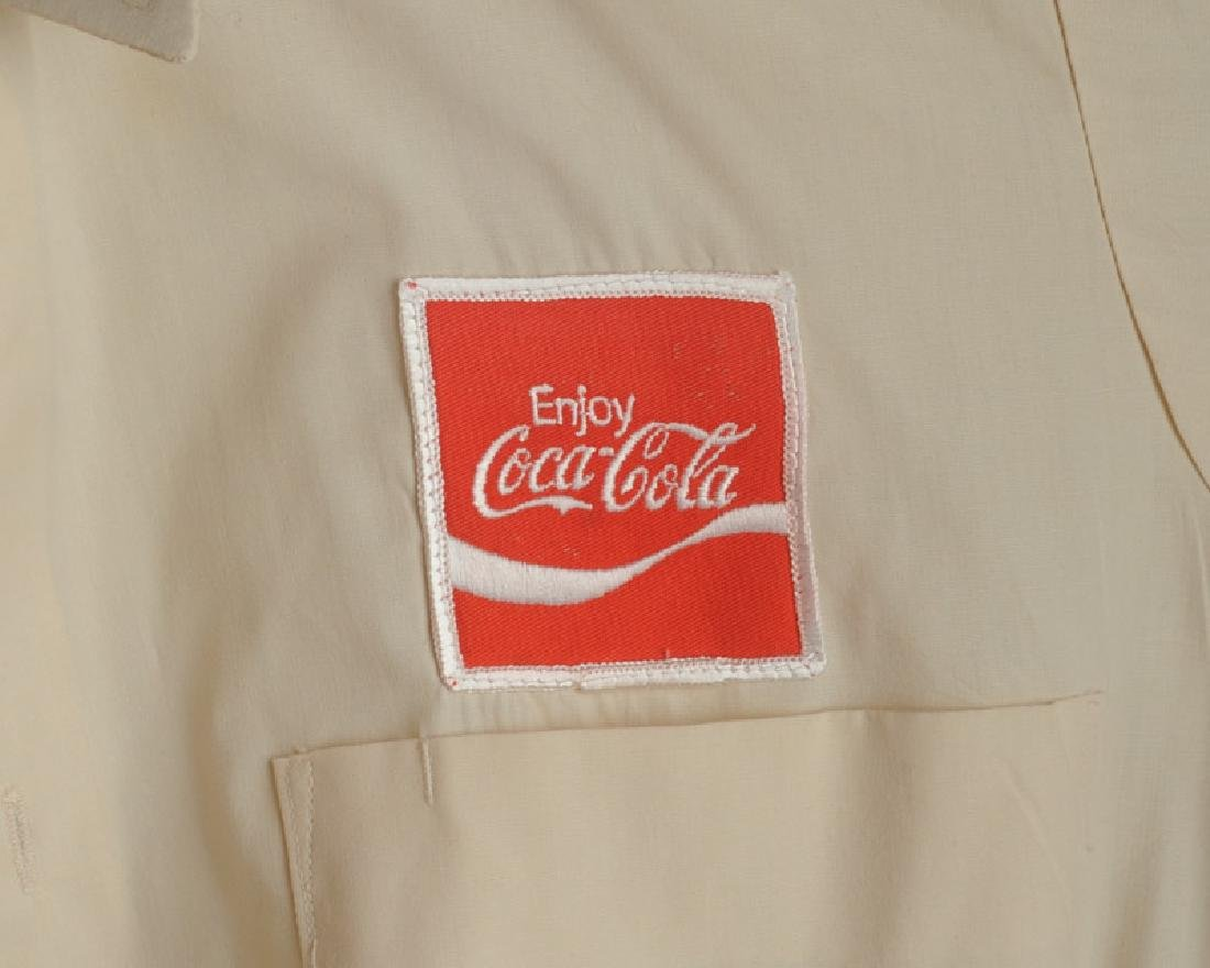 Two Vintage Coca Cola Delivery Man's Shirts - 3
