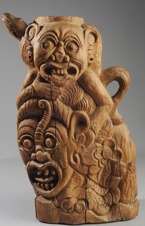 Balinese Wood Carving Mythological Characters