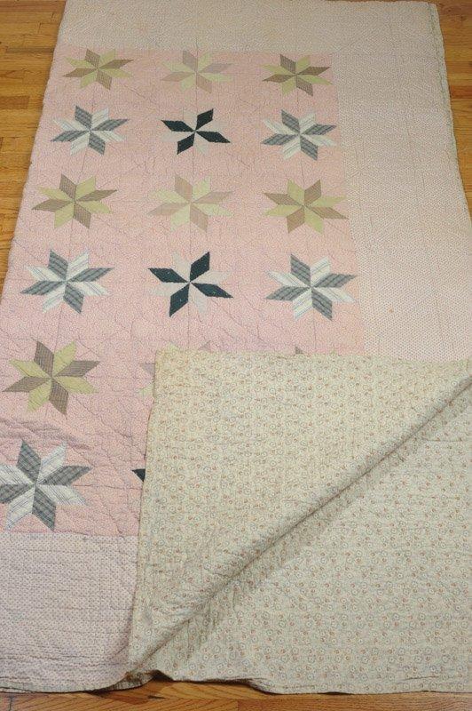 Antique Hand Stitched Star Quilt