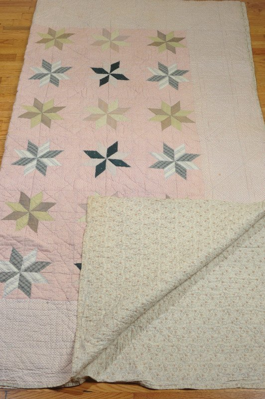 Antique Hand Stitched Star Quilt