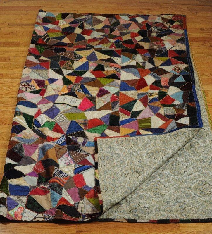 Hand Stitched Victorian Crazy Quilt