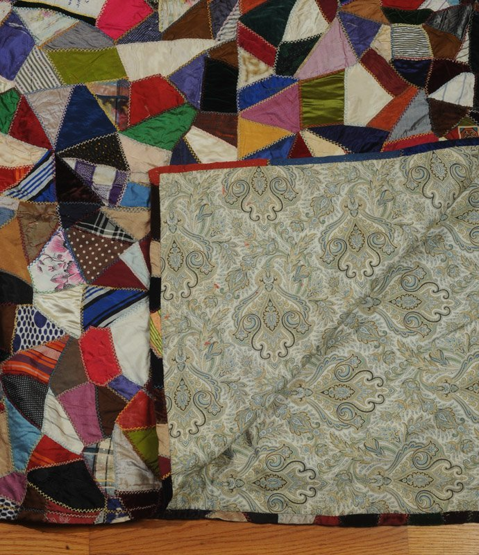 Hand Stitched Victorian Crazy Quilt - 2