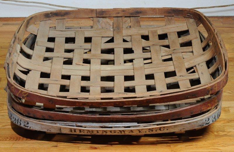 Three South Carolina Split Woven Tobacco Baskets