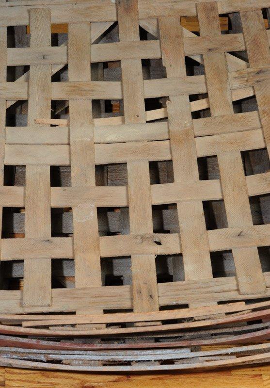 Three South Carolina Split Woven Tobacco Baskets - 2