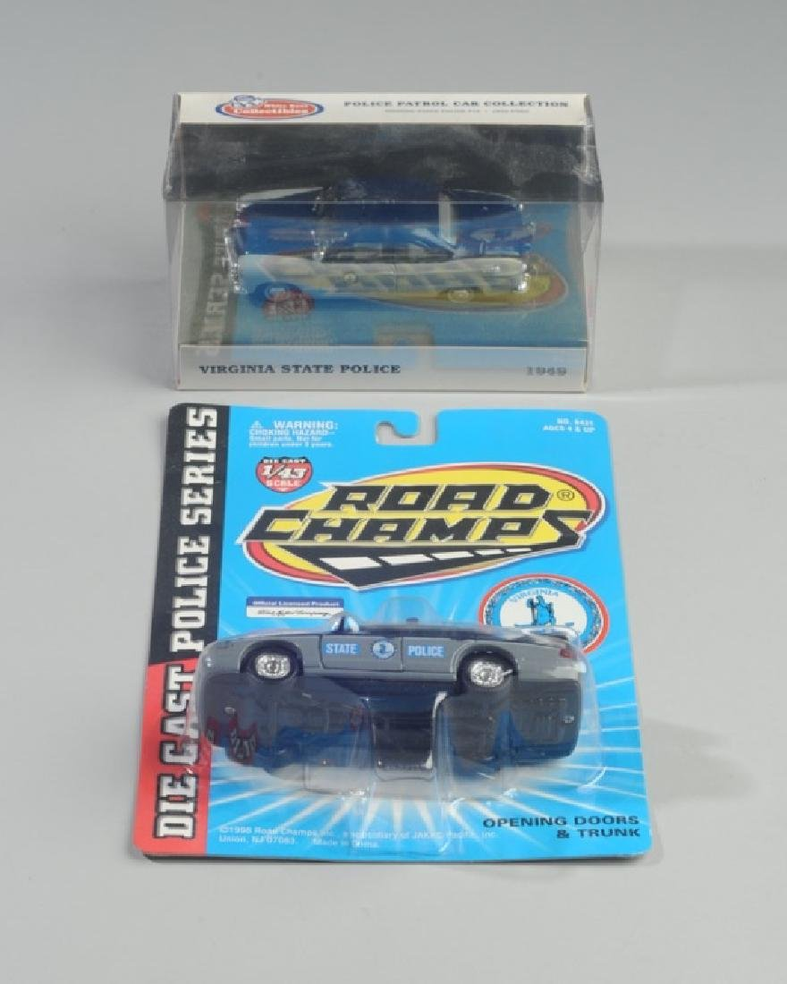 Two Virginia State Police Model Cars