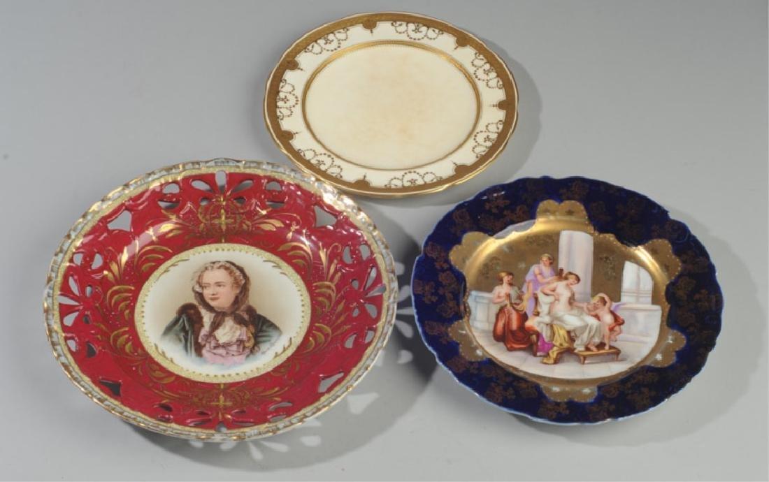 19th C. Portrait Plate, Old Paris, Tiffany & Co