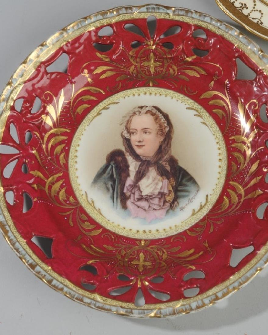 19th C. Portrait Plate, Old Paris, Tiffany & Co - 3