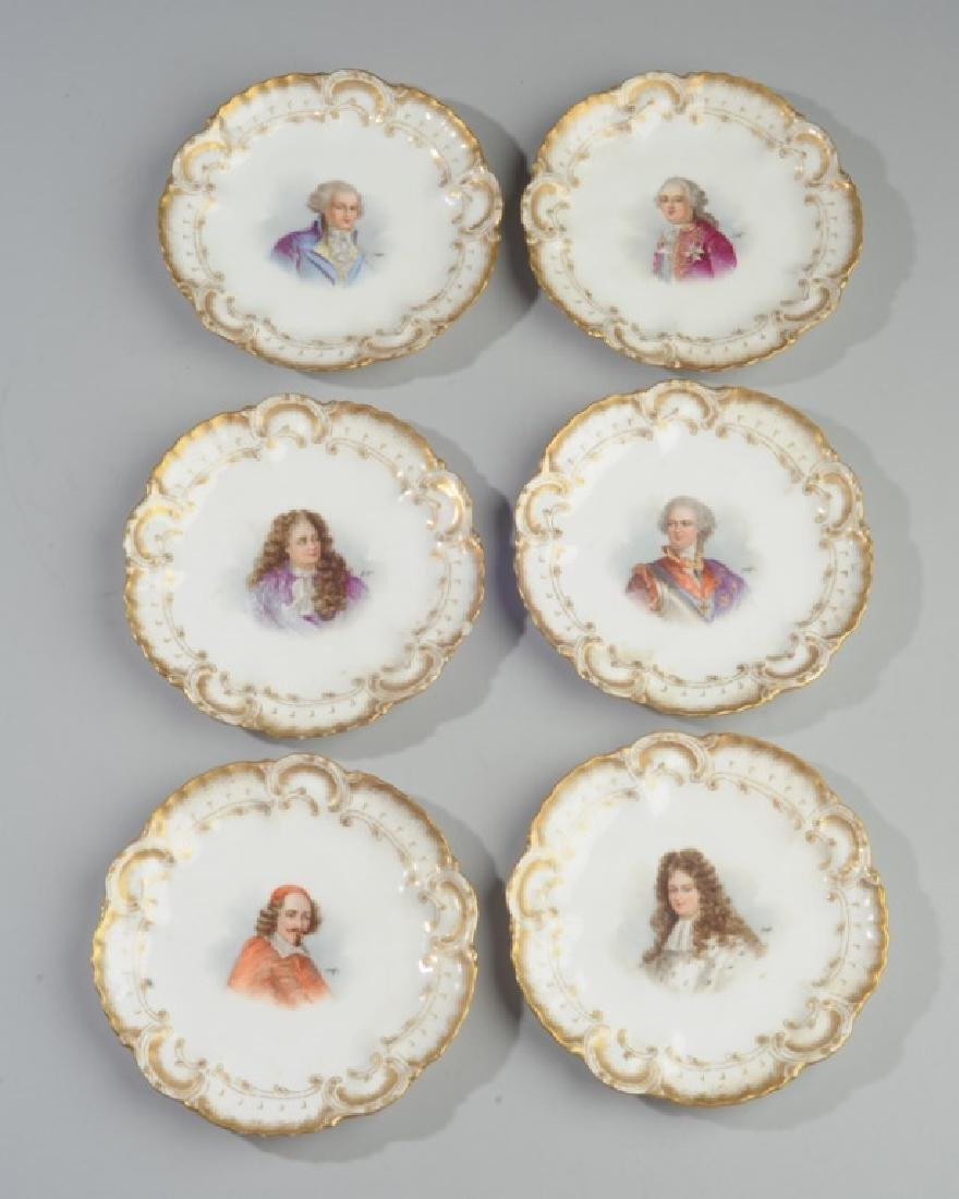 Set of 6 Limoges Portrait Small Plates