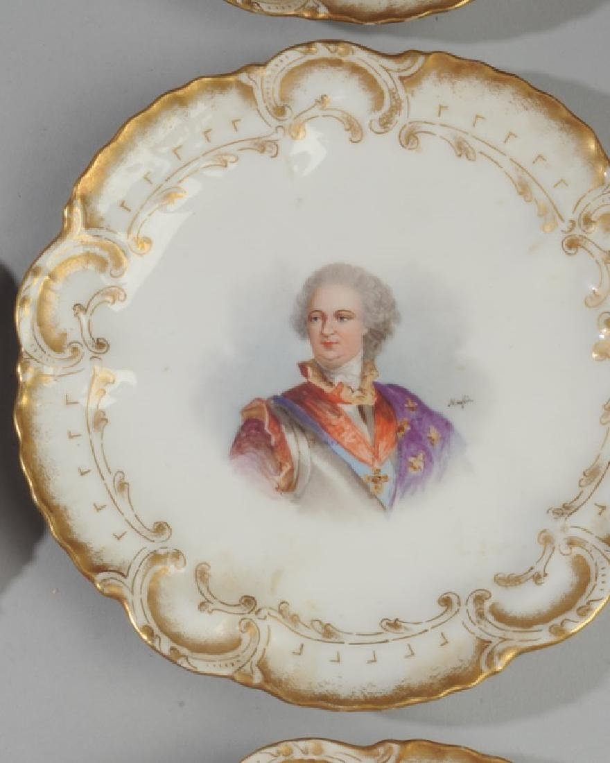 Set of 6 Limoges Portrait Small Plates - 5