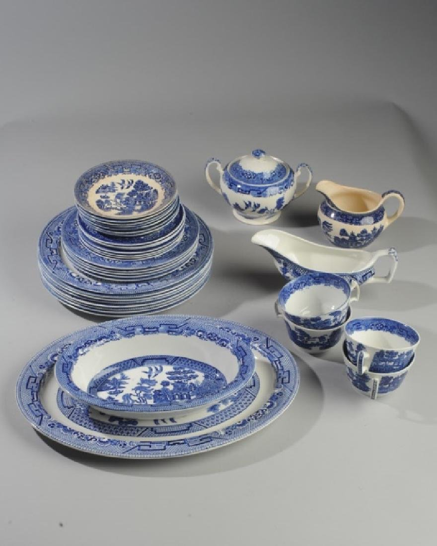 """Lot of English Woods Ware """"Willow"""" China"""