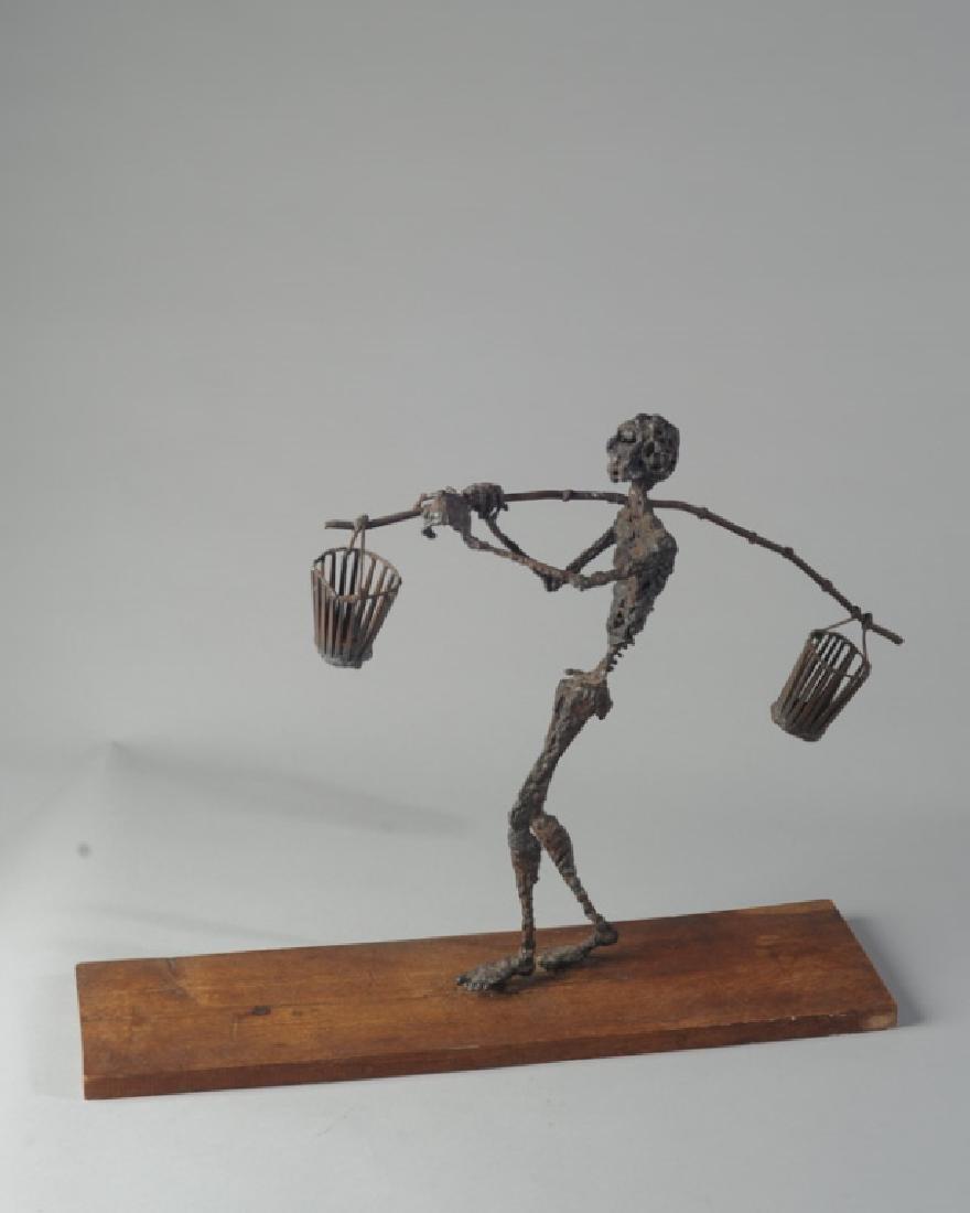 Modernist Figural Metal Sculpture