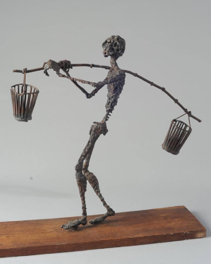 Modernist Figural Metal Sculpture - 2