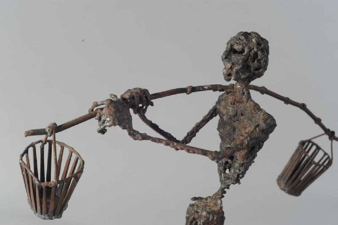 Modernist Figural Metal Sculpture - 3