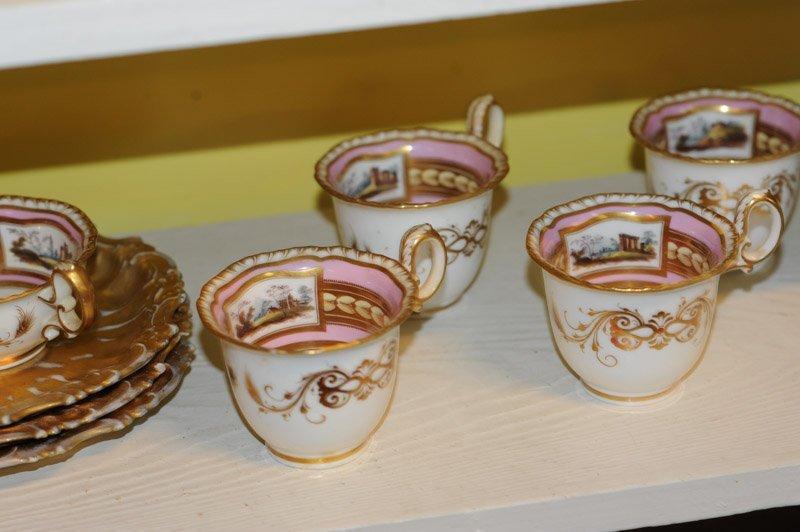 Antique Old Paris Pink & Gold Porcelain Lot - 5