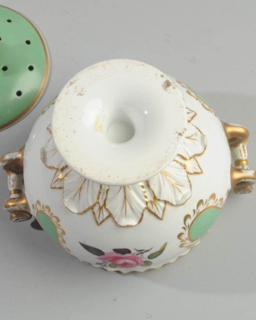 2 Pcs. 19th C. Old Paris Green & Gold Porcelain - 5