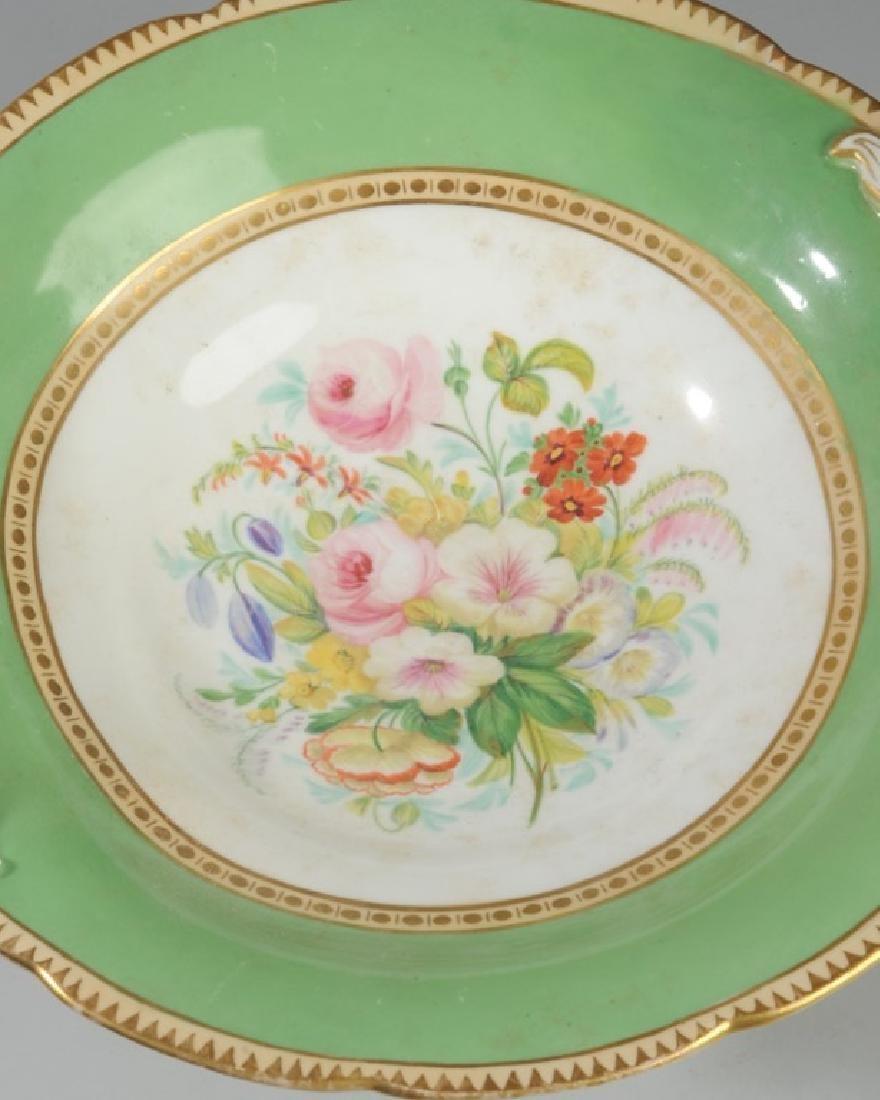 2 Pcs. 19th C. Old Paris Green & Gold Porcelain - 6