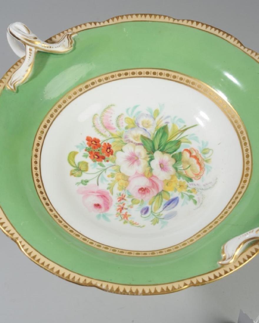 2 Pcs. 19th C. Old Paris Green & Gold Porcelain - 7
