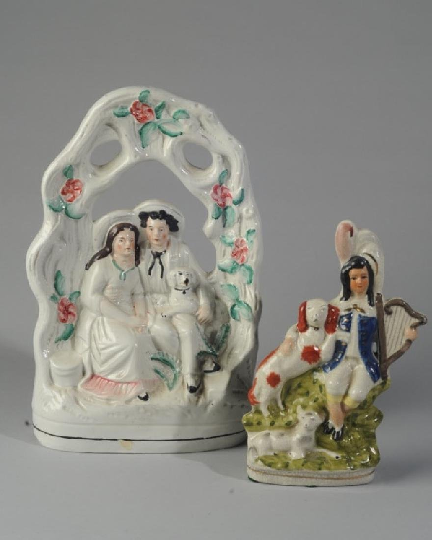 Two Reproduction Staffordshire Porcelain Figures