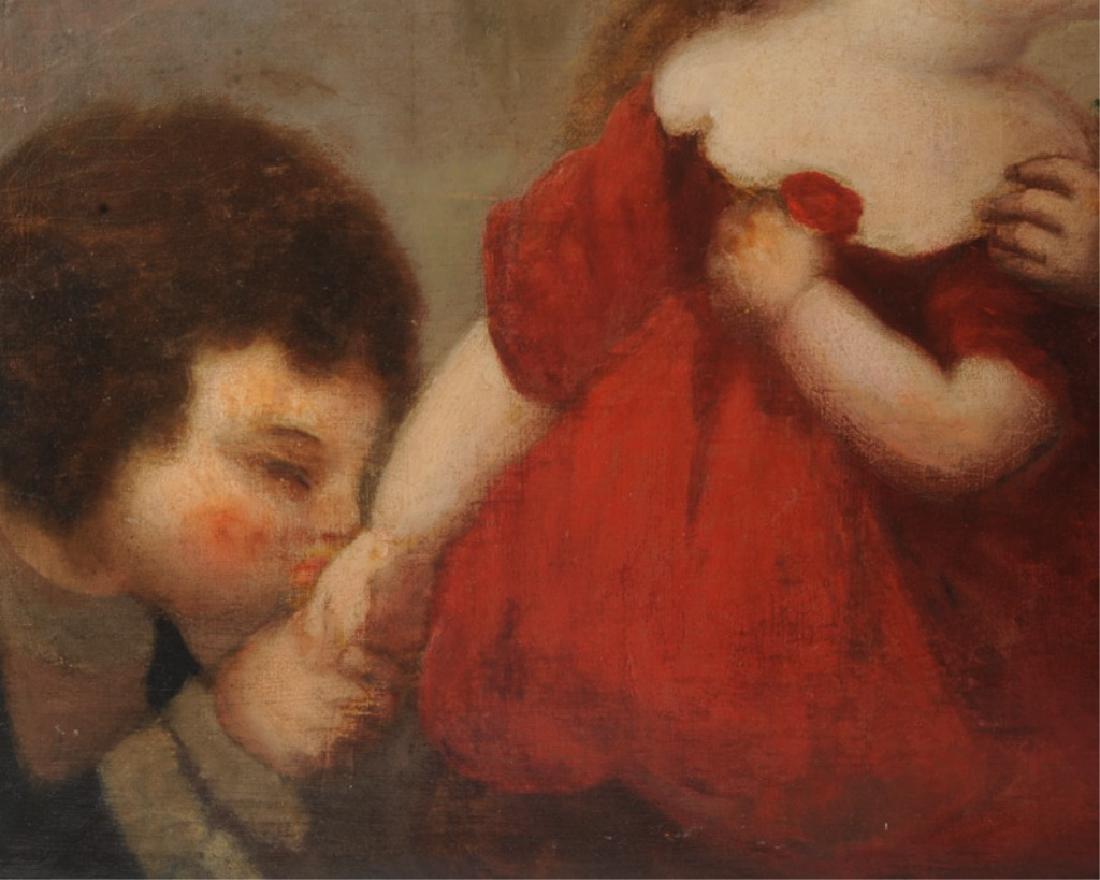 Large Antique Painting of Three Children - 3