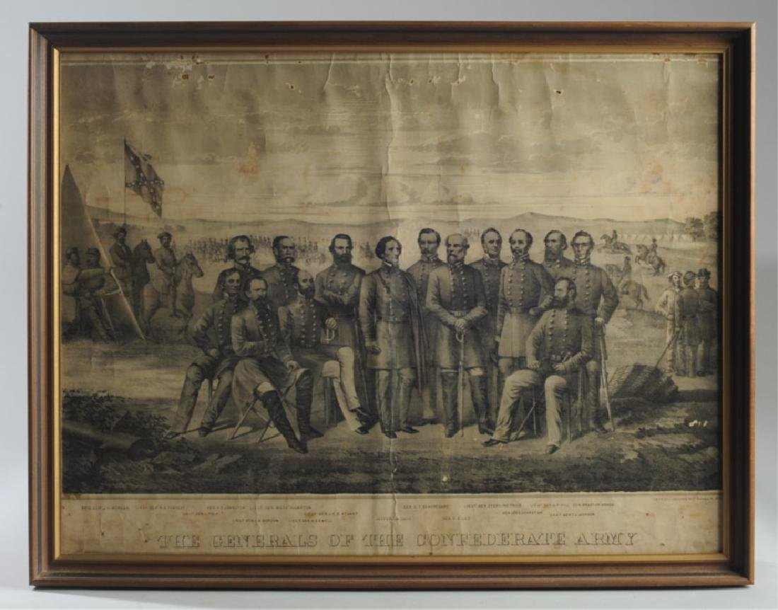 1879 Print Generals of the Confederate Army