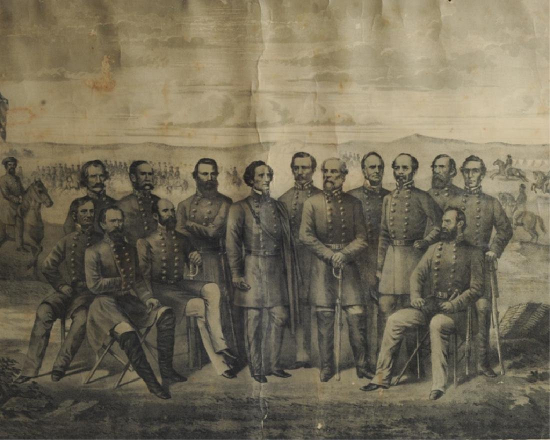 1879 Print Generals of the Confederate Army - 2