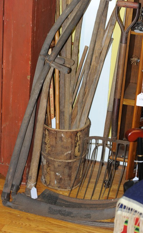 Lot of Early Scythes & Pitchforks